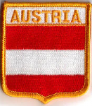 Austria Embroidered Flag Patch, style 06.